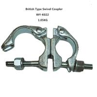 China Original , silver 360 Degrees scaffold swivel coupler / clamps Q235 wholesale
