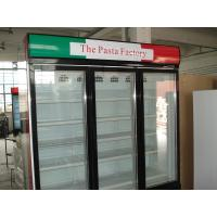 Quality 3 Doors Automatic Defrost Upright Commercial Display Freezer -25°C Fan Cooling for sale