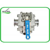 China Sanitary Full Bore Ball Valve Clamp / Thread / Weld / Flange 3 Way , Non Retention wholesale