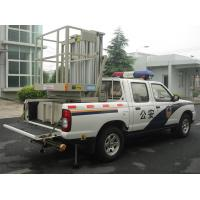 China Hydraulic Aluminium Alloy Trailer Man Lift , Double Mast Trailer Mounted Boom Lift wholesale