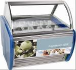 China 10 Pans Blue Hard Ice Cream Display Freezer Custom For Store / Mall wholesale