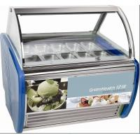 Quality 10 Pans Blue Hard Ice Cream Display Freezer Custom For Store / Mall for sale