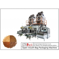 China 20-50kg Pellet & Powder Open-Mouth Bagging Machine For Salt Grain Pet food Fish Feed Packaging Machine wholesale