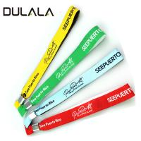 China Cheap wristband woven short lanyard 15mm entrance bracelet for event wholesale