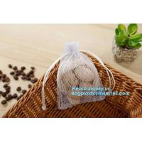 China china factory promotional white cotton nylon mesh drawstring raschel bag for dry fruit storage, nylon mesh bags, bagease on sale