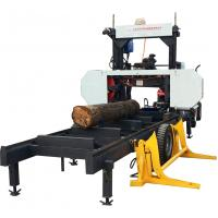 China Woodworking Machinery Horizontal Band Portable Sawmill with Hydraulic Log Loading Arm wholesale