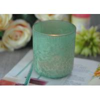 China Luxury Glass Candle Holders Beautiful Feather Painted Candle Holders For Decoration wholesale
