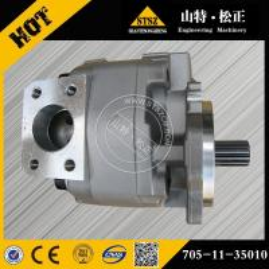 China Komatsu wheel loader spare parts, WA350-1 torqflow transmission pump 705-11-35010 wholesale