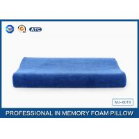 China Blue Curved Memory Foam Contour Pillow Relief Of Back / Neck And Shoulder Pain wholesale