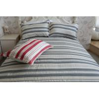 China vertical stripe  grey&white polycotton or full cotton duvet cover sets2 wholesale