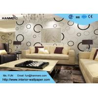 China Geometric Non - woven Modern Removable Wallpaper with Black and White Circles wholesale