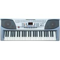 China 54 Key Silver White Teaching Type Electronic Keyboard Piano With Instruction Manual MK-2083 wholesale
