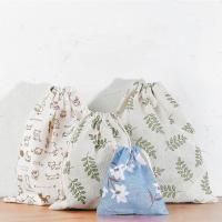 China Travel Storage Bag Reusable Cute Pattern Printed Drawstring Backpack Bag wholesale