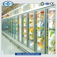 China Glass door refrigerator showcase for supermarket  Remote types  of 918mm Depth wholesale