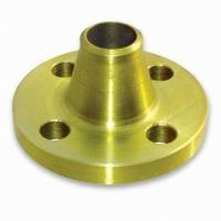 China Yellow Golden Painting Weld Neck Flanges, Custom Anti-corrosive Forged Steel Flanges wholesale