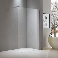 China Walk-in aluminium shower screen 1200*2000mm with top fixed bar on sale