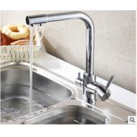Buy cheap 3 In 1 Brass Gooseneck Kitchen Faucet Connect Pure Water Hot Cold Water In from wholesalers