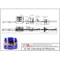 China Lubricating Oil Automatic Filling Line 5L - 30L Net Weigh Filling Machine wholesale