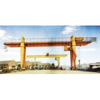 Buy cheap 28.5m Span 200 / 32t Double Girder Gantry Electric Overhead Crane with Hook from wholesalers