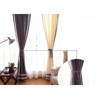China patchwork white and navy curtains , Plain Style Home living room curtains wholesale