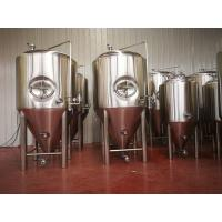 China 72 Cone Degree Stainless Steel Fermentation Tank , Brewery Fermentation Tanks wholesale