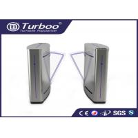 China Semi - Automatic Flap Barrier Turnstile Gate Access Control Auto Reset Function wholesale