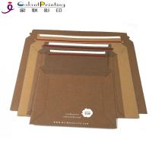 China Rigid Cardboard Flat Kraft Mailer Envelopes Printing Services Matte Lamination wholesale