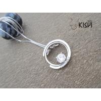 China 2012 hot selling sterling silver gemstone pendant with OPP bag W-VB849 Nickle free wholesale