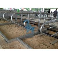 China Galvanized Steel Pipe Locking Feed Barriers For Breeding Farms wholesale