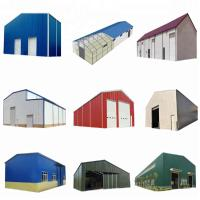 Quality SGS Passed Steel Frame Prefabricated Houses Construction Structural Workshop for sale