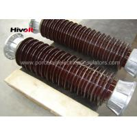 China Brown Color Station Post Insulators For 110kV Substations Metric Pitch wholesale