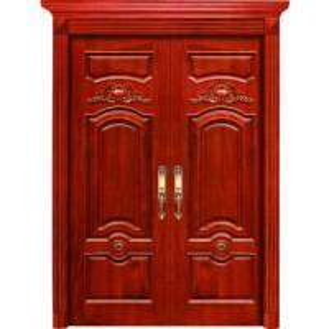 China exterior high quality double/sigle swing teak wood main door, solid wood door wholesale