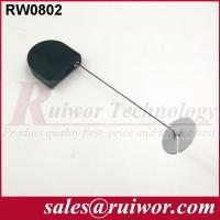 China Balck / White Bazaar Display Security Tether With Adhesive ABS Plate 	/ 2.8x2.8x0.8Cm Box wholesale
