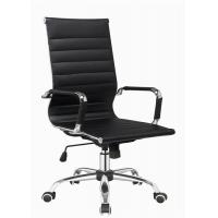 China Modern Designer Brown Leather Office Chair , Adjustable High Back Office Chair wholesale