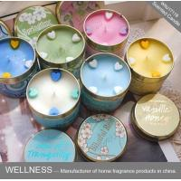 China Soy Wax Scented Tin Candles , Handmade Non Toxic Long Lasting Scented Candles wholesale