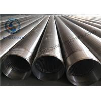 China Stainless Steel V shape Wedge Wire Wrapped Slotted Screen Pipe For Filteration wholesale
