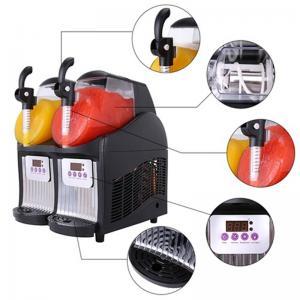 China 300W mini Commercial Cheap 4L 2Tanks Slush ice Making Machine Frozen Drink daiquiri machine for sale  WT/8613824555378 on sale