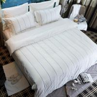 Hotel Linen Printing Jacquard Satin Stripe 100% Cotton Hotel Bedding Set Hotel Bed Linen