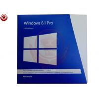 China Custom Language Windows 8.1 Pro Retail Box , Windows 8.1 Pro 32 Bit + 64 Bit wholesale