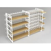 China Metal Frame Retail Display Shelves , Multiuse Convenience Store Shelving Four Sides on sale