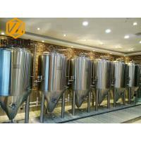 Quality Two Vessels Small Scale Brewing Equipment 10HL Steam / Direct Fire Heating for sale