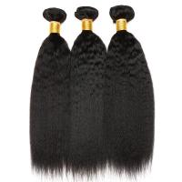 China Kinky Straight Natural Color 100 Indian Remy Human Hair Weave For Lady wholesale