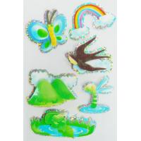 China Custom Printed Hologram Stickers , Paper Layered 3d Holographic Stickers Sheets wholesale