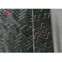 China Black Color 95% Polyester 5% Spandex Fabric Burnout Velvet Fabric wholesale