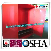 Quality Red Flammable Paint Storage Cabinets Adjustable Shelf For Chemical Hazardous for sale