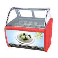 China 14 Flavors Ice Cream Display Cabinet Frozen Popsicle Display Showcase wholesale