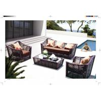 China new product five star rattan sofa conservatory Furniture resin Wicker Luxury sofa wholesale
