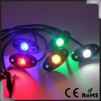 China RGB Bluetooth Control 9-32V DC Led Rock Light , IP68 Jeep Off Road Rock Lights wholesale