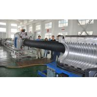 China HDPE / PP Double Wall Corrugated Pipe Making Production High Speed wholesale