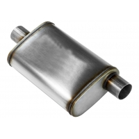 """Buy cheap Universal 2.50"""" Off / Cen 409 Stainless Steel Exhaust Muffler from wholesalers"""